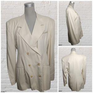 Vintage cream double breasted blazer size M/L